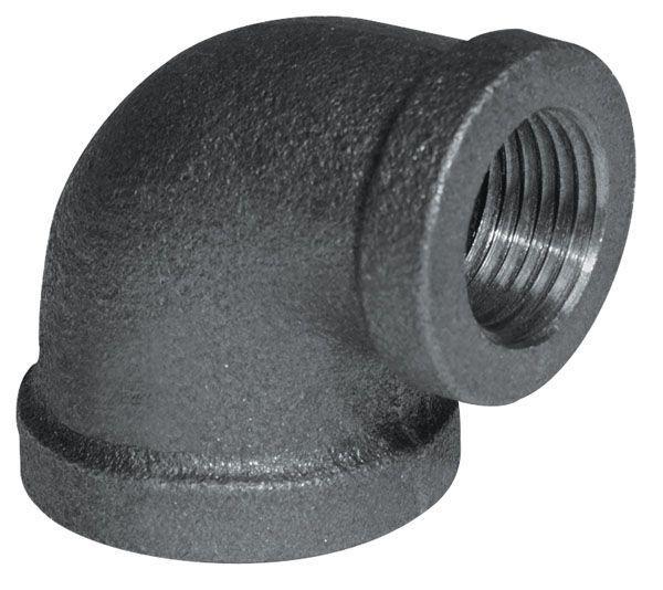 Raccord Fonte Noire Coude Réducteur 90 Degrés 1 Pouce x 3/4 Pouce