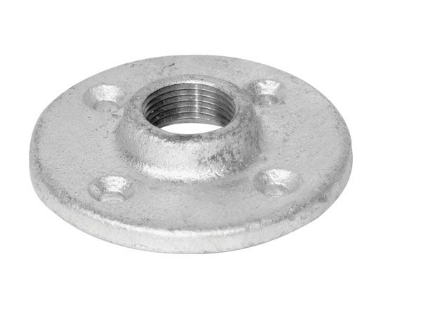 Aqua dynamic fitting galvanized iron floor flange 1 2 inch for 1 inch galvanized floor flange