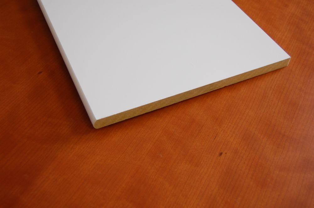 MDF Bullnosed White Shelving 5/8 Inch x 11-1/4 Inch x 96 Inch