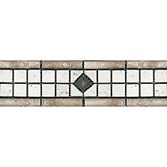 3-inch x 12-inch Chiaro with Metal Decorative Listello Tile