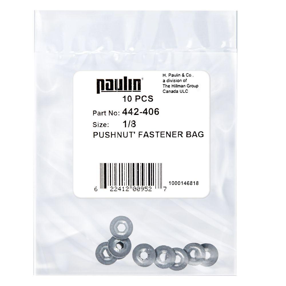 1/8 Pushnut Fastener 10P