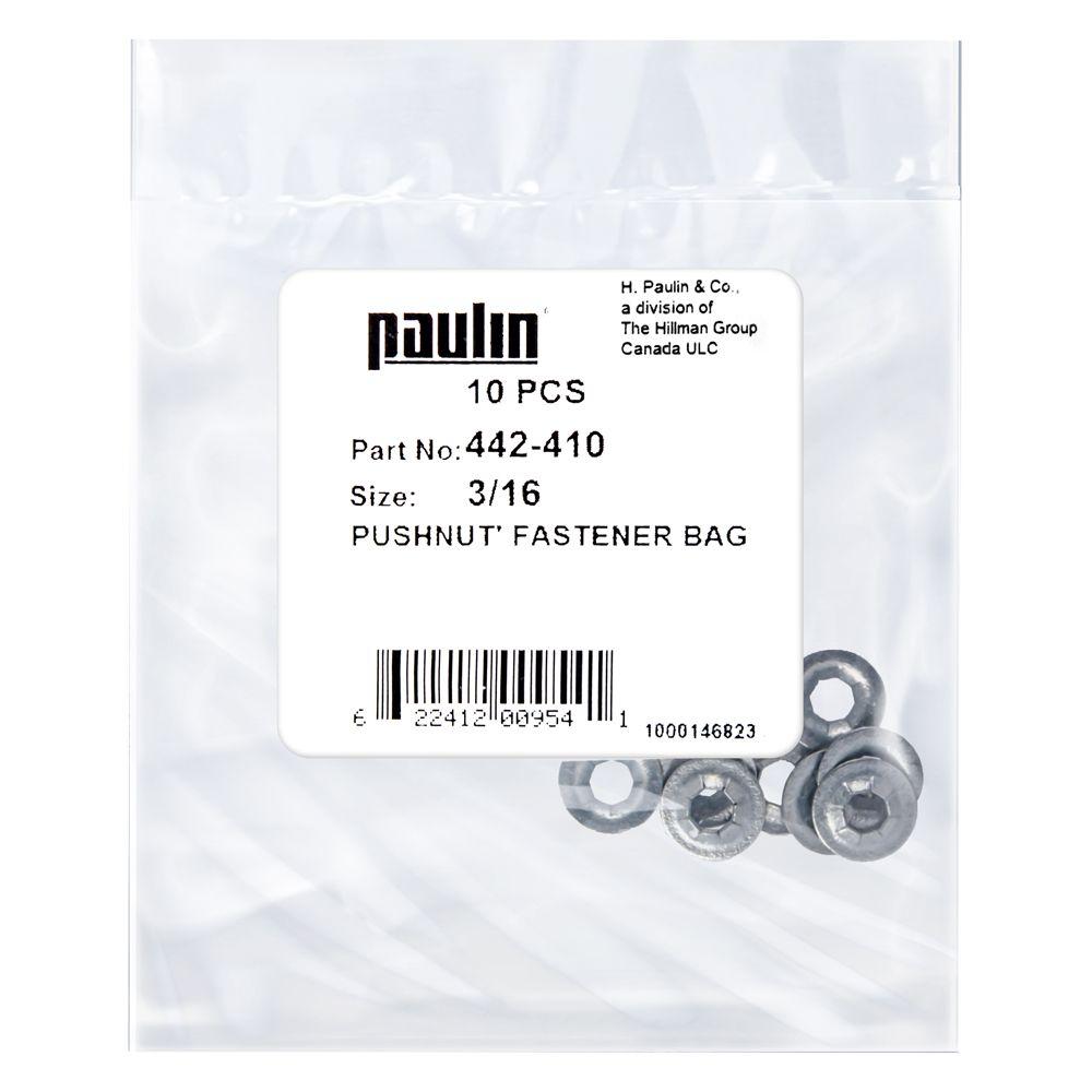 3/16 Push Nut Fastener 10P