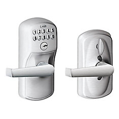 Keypad Lock Plymouth/Elan Lever Satin Chrome