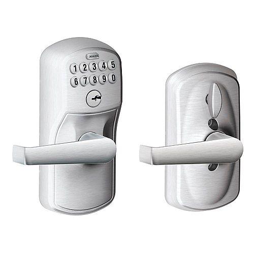 Schlage Keypad Lock Plymouth/Elan Lever Satin Chrome