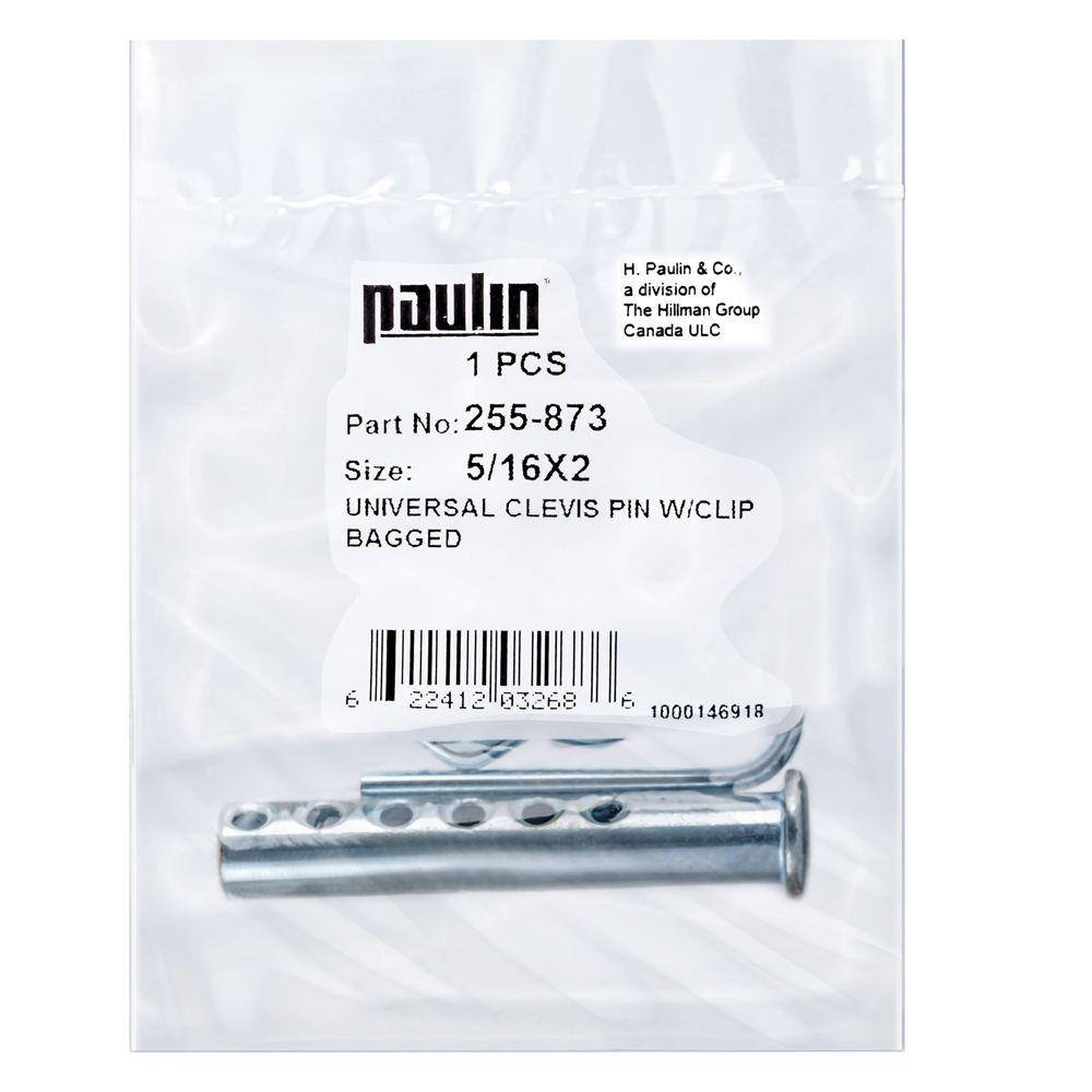 5/16X2 Clevis Pin Pltd W/Clip 1P