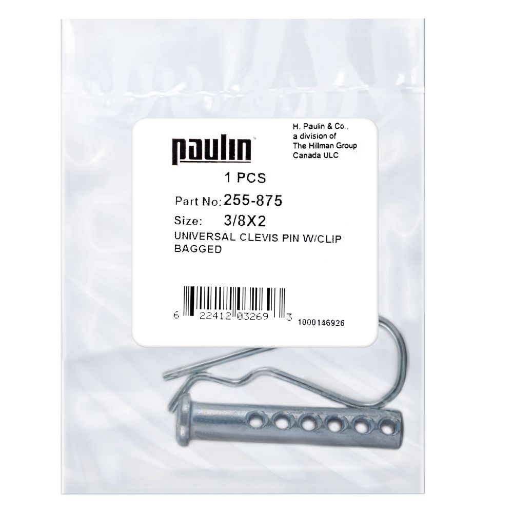 3/8X2 Clevis Pin Pltd W/Clip 1P