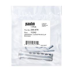 Paulin 1/2X2 Clevis Pin Plated W/Clip 1P