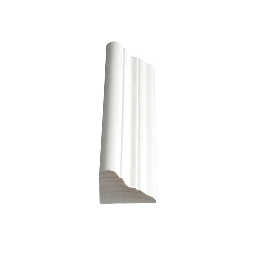 Primed Finger Jointed Pine Crown 1-1/4 In. x 1-7/8 In. (Price per linear foot)