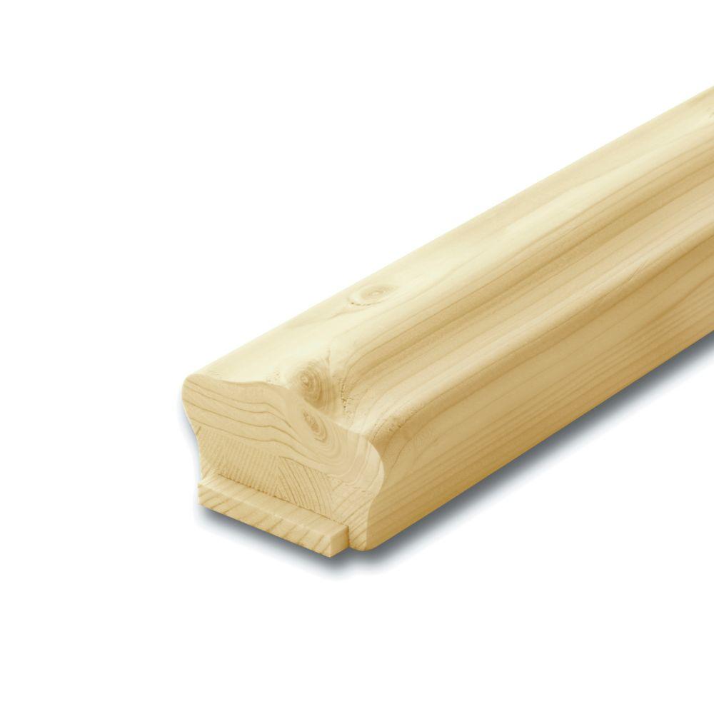 Main courante et listel standard en pin noueux 1 5/8 x 2 5/8