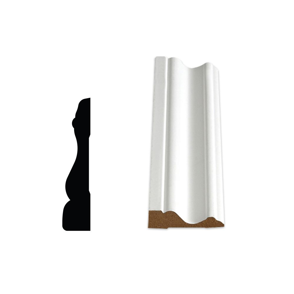 Primed Fibreboard Pre-Mitered Casing Set 5/8 In. x 2-3/4 In. 07705-96CM in Canada
