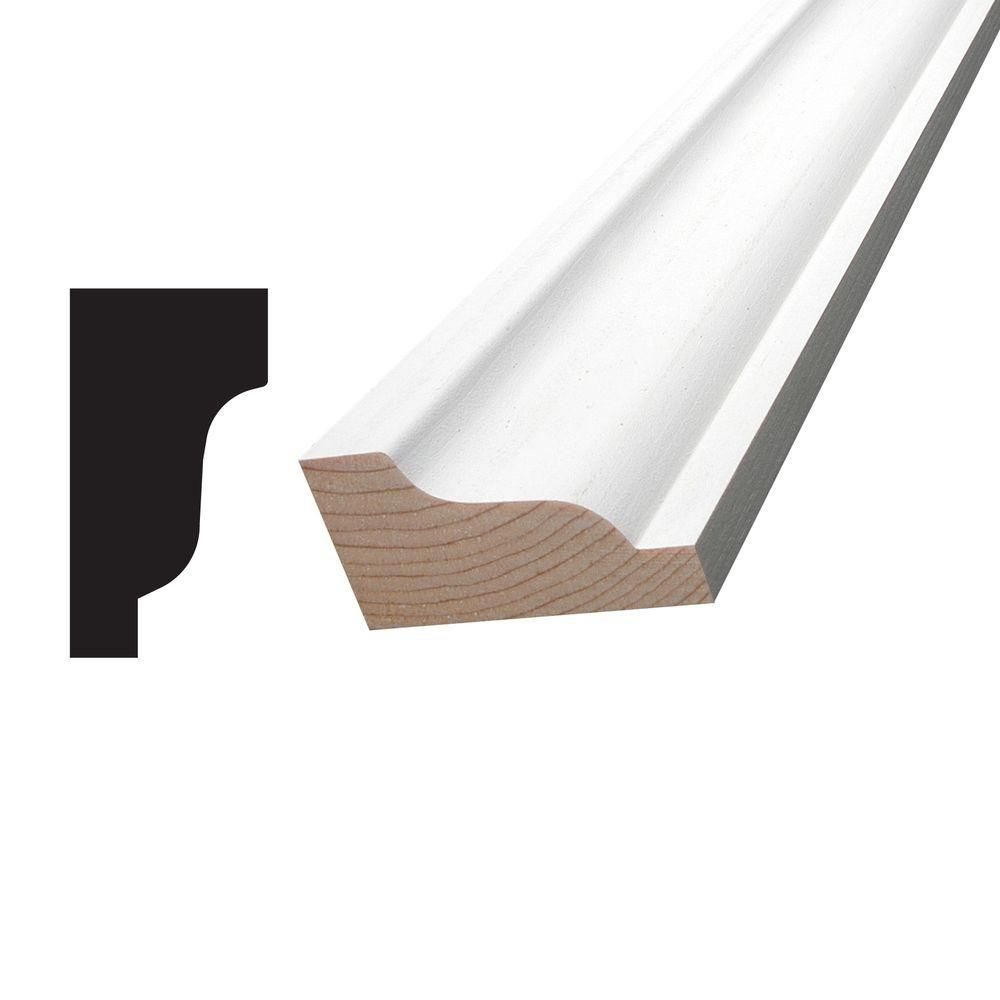 Primed Finger Jointed Pine Crown 1-1/4 In. x 2-1/4 In. (Price per linear foot)