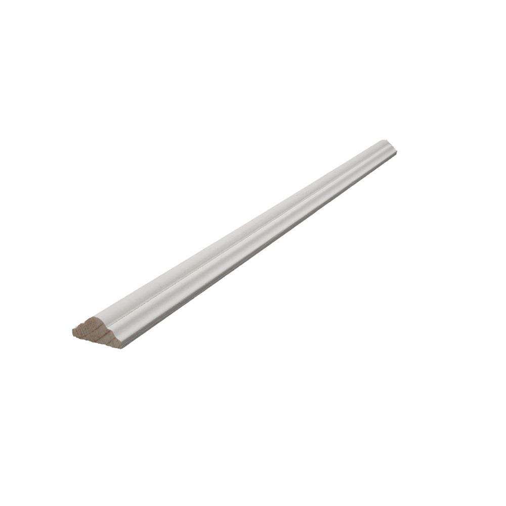 Primed Finger Jointed Pine Shelfedge/Astragal 3/8 In. x 3/4 In. (Price per linear foot)