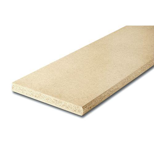 Alexandria Moulding Marche d'escalier en bois pressé non fini de 1 1/8 pouce x 10 1/2 pouce x 42 pouces