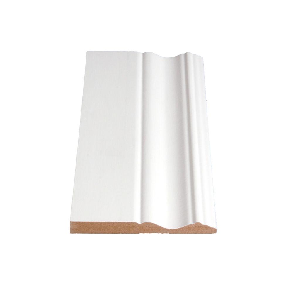 Primed Fibreboard Base 3/8 In. x 3-7/8 In. (Price per linear foot)