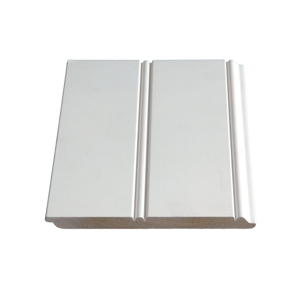 Primed Fibreboard Wainscott 3/8 In. x 5-3/4 In. (Price per linear foot)