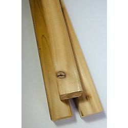Porcupine 2x2x8' cèdre STK S4S Planches