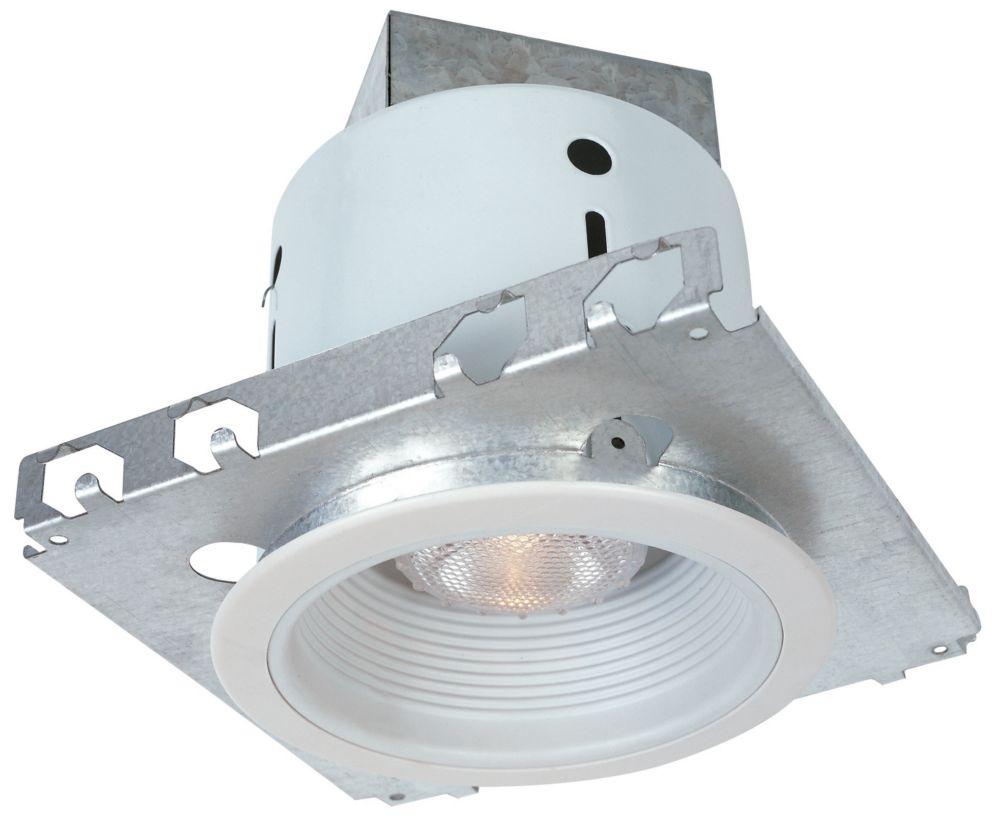 Ensemble, mini cannette de niche avec déflecteur blanc, 75 W, PAR20