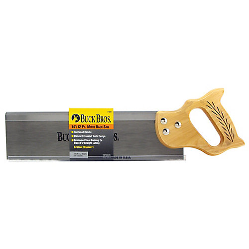 14 In. Pro Mitre Back Saw - Wood Handle