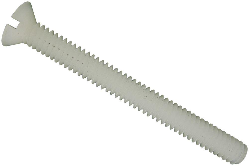 8-32x1/2 vis mécanique fendue plate en nylon