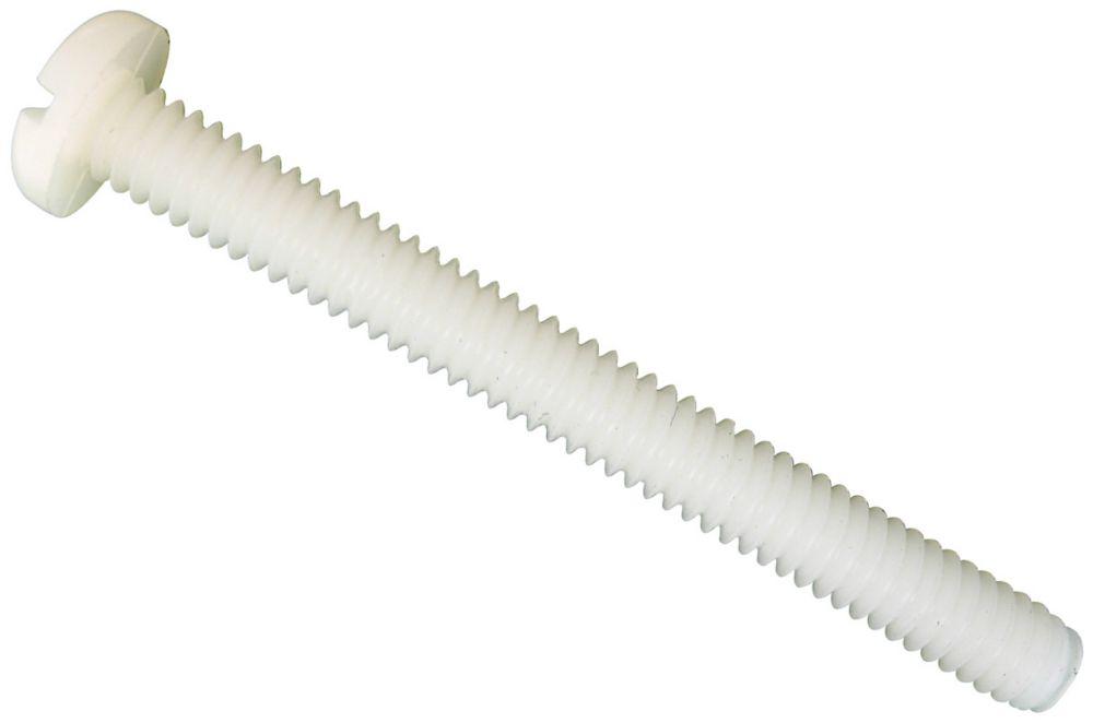1/4x1 vis mécanique tête fendue en nylon