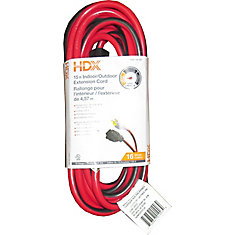 15 ft. 16/3 Indoor/Outdoor Grounded Extension Cord