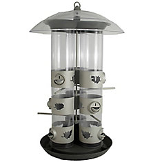 Birdscapes Triple Tube 2-in-1 Feeder