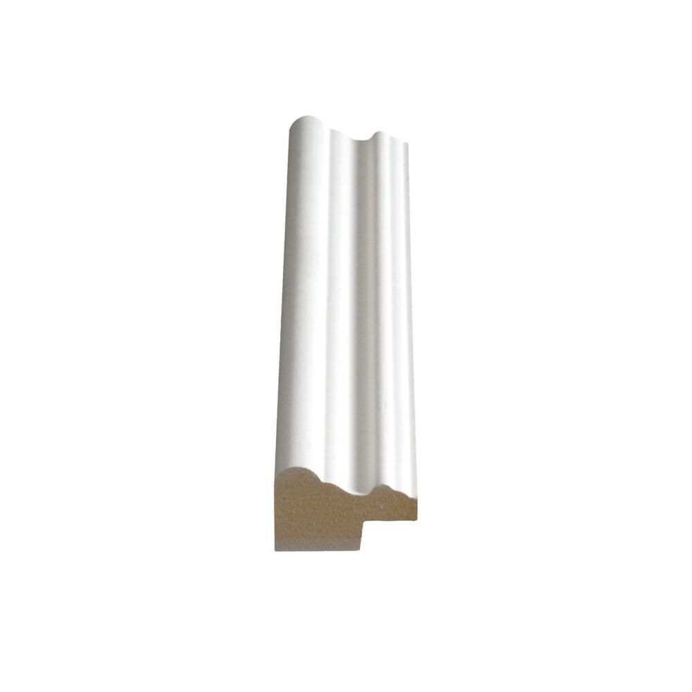 Alexandria Moulding Primed Fibreboard Panel Cap 1-3/16-inch x 1-3/4-inch (Price per linear foot)