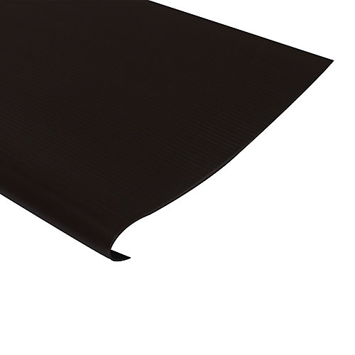 Vinyl Stair Treads With Nosing, Brown - 24 Inch