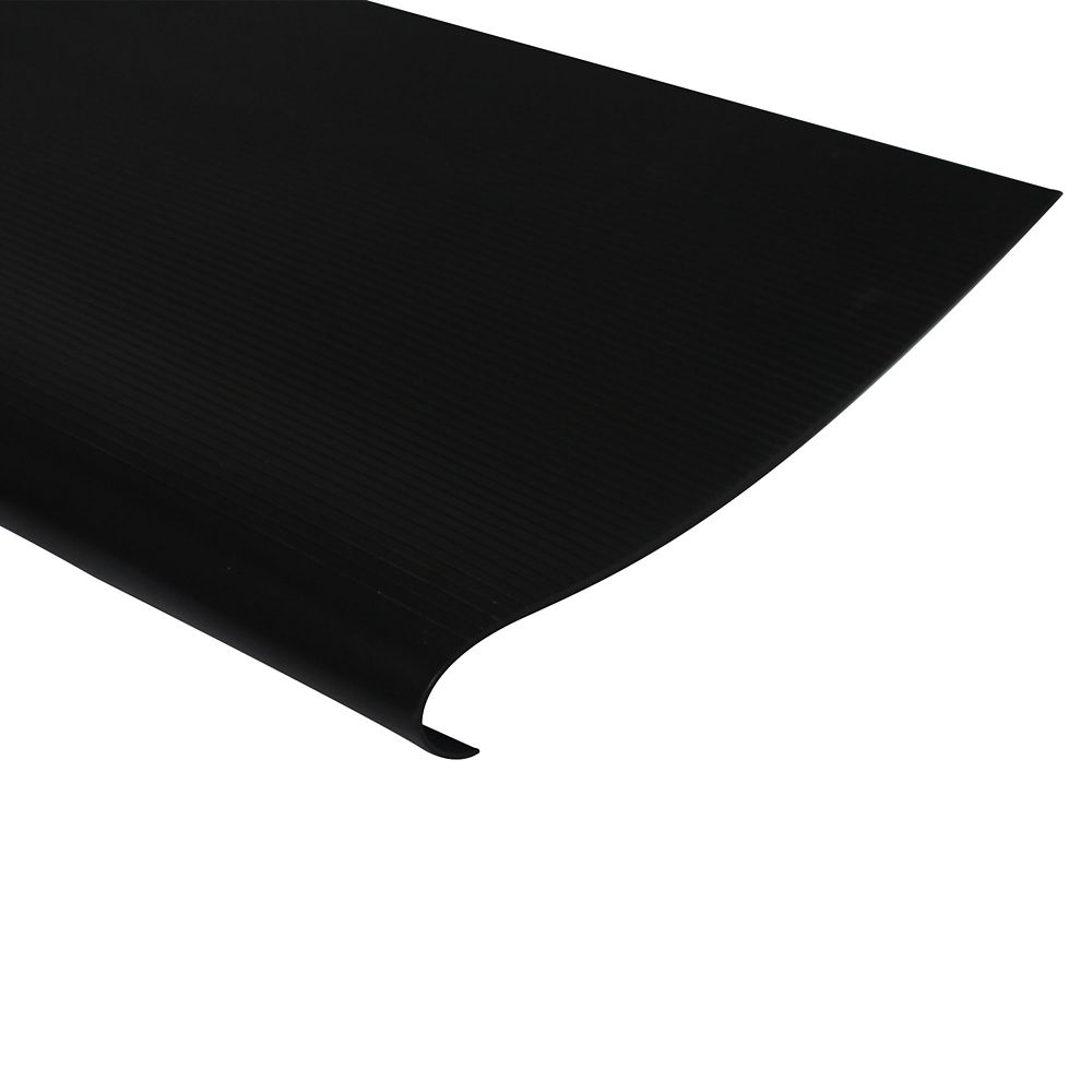 Vinyl Stair Treads With Nosing, Black - 18 Inch