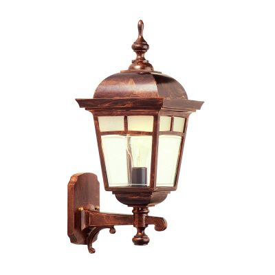 Imagine, Uplight Wall Mount, Frosted Pattern Glass Panels, Antique Copper