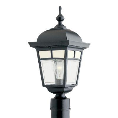 Snoc  Imagine, luminaire sur poteau, panneaux de verre aux motifs givrés, noir (poteau non-inclus)
