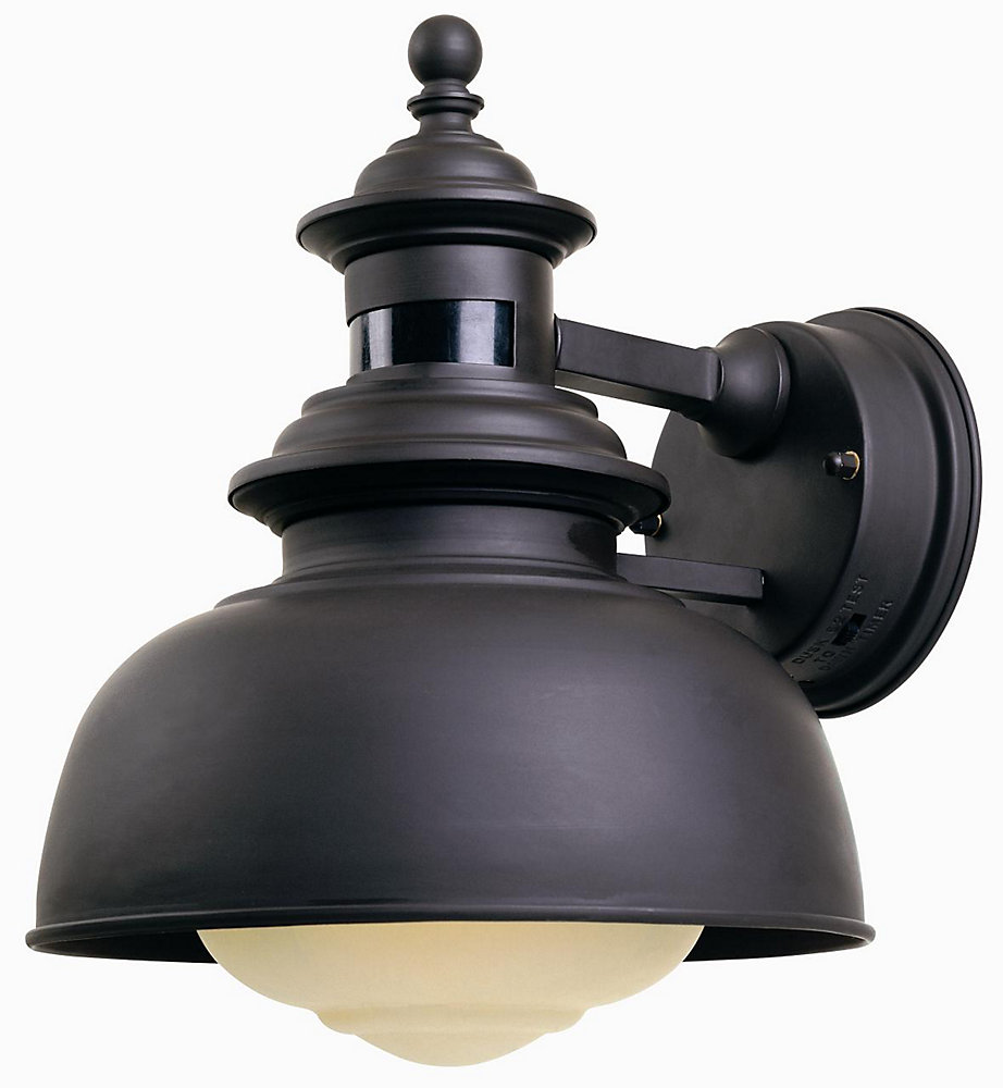 hampton bay light outdoor wall lantern with motion
