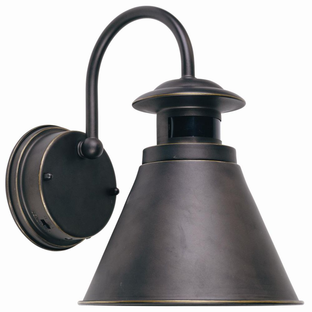Hampton Bay Outdoor Wall Lantern With Motion Sensor, Oil