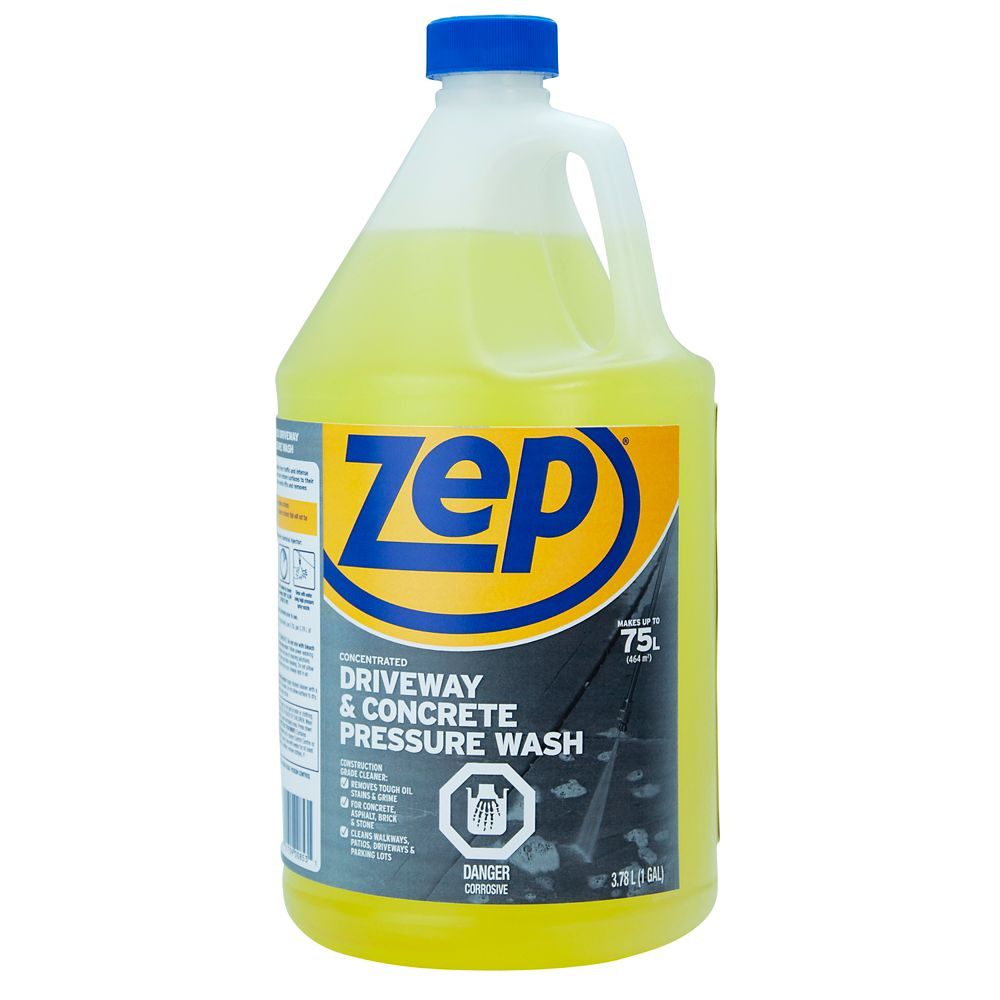 Zep commercial zep driveway concrete cleaner pressure for Concrete floor degreaser