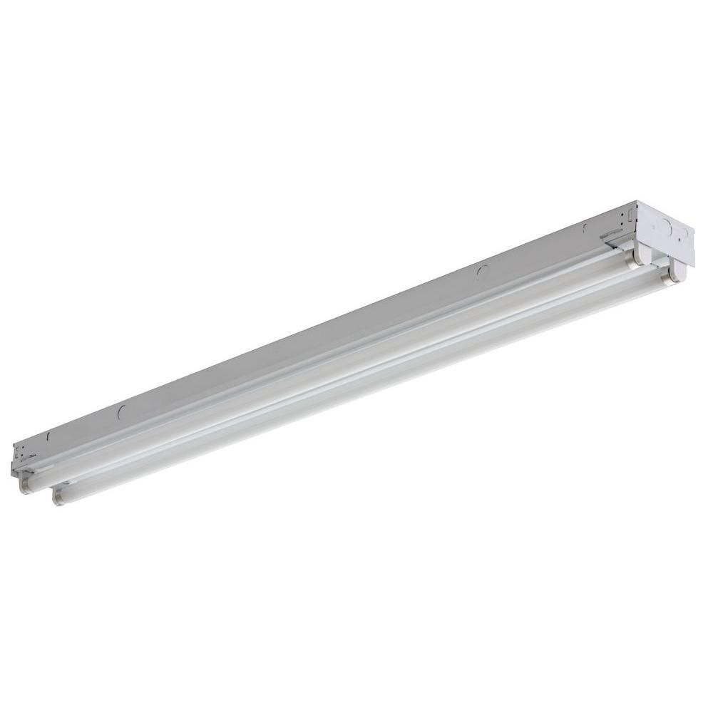 Led Or Fluorescent Shop Light: 4 Feet. 1-Light White LED Utility Shop Light 73992/CAN In