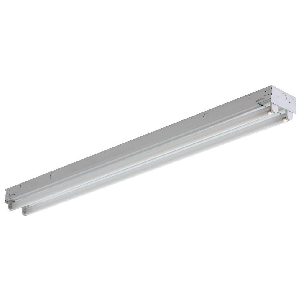 Lithonia Lighting 2-Light White Electronic Channel Fluorescent Strip Light