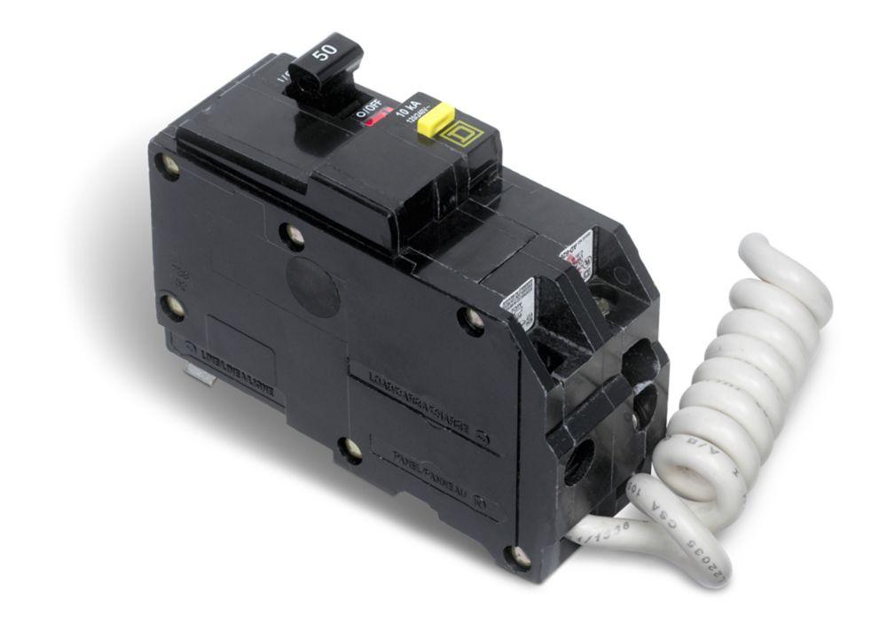 Double Pole 50 Amp QO GFI Circuit Breaker QO250GFICP Canada Discount