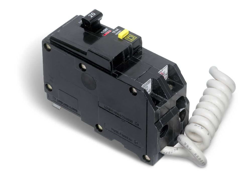 Double Pole 20 Amp QO GFI Circuit Breaker QO220GFICP Canada Discount