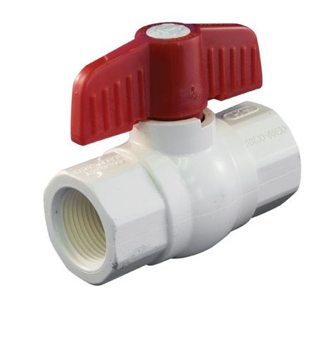 Ball Valve 1-1/4 Inch PVC Threaded Schedule 40 1107-136 in Canada