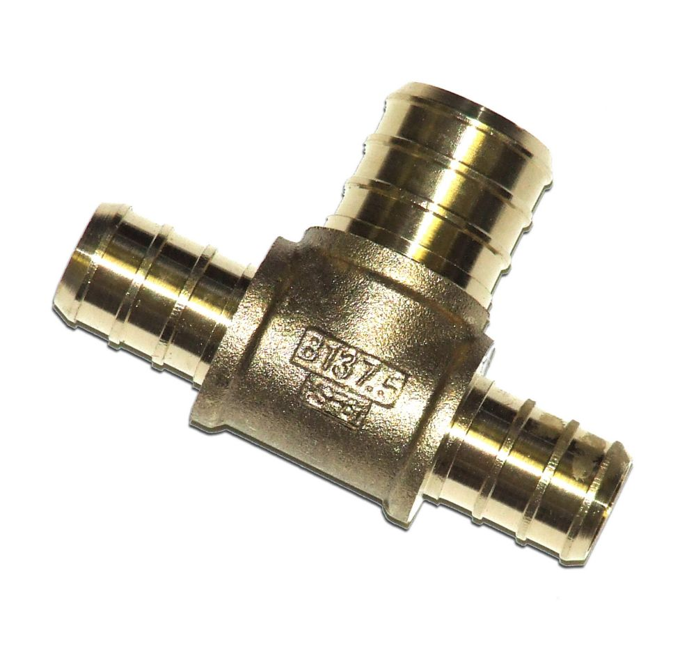 Pex brass fittings inch barb tee