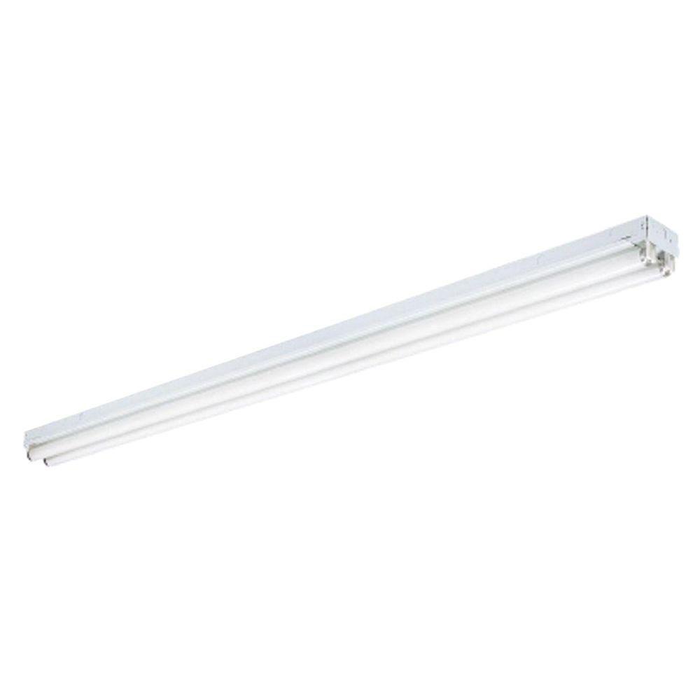 Lithonia Lighting 2-Light White Ceiling Commercial Strip Fluorescent Light