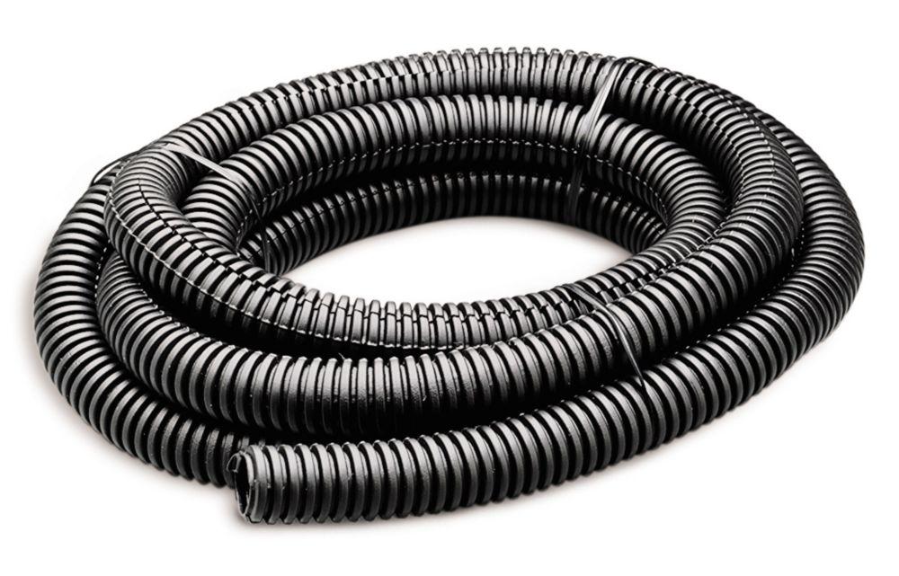 Tube flexible de 1/2po par 7pi noir