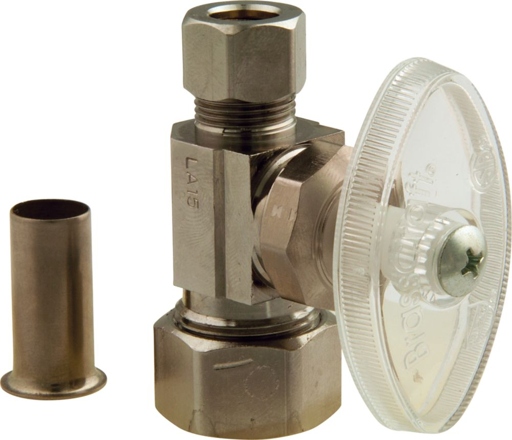 Straight Valve 1/2 Inch Nominal Compression X 3/8 Inch Od Compression With Insert