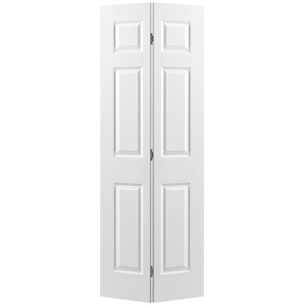 24-inch x 78-inch 6-Panel Textured Bifold Door