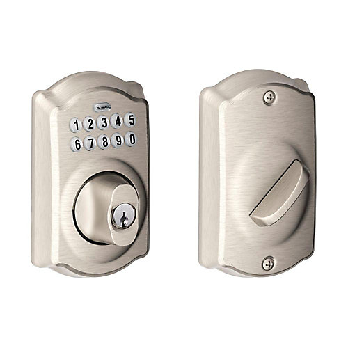 Defiant Single Cylinder Satin Nickel Castle Electronic Keypad ...