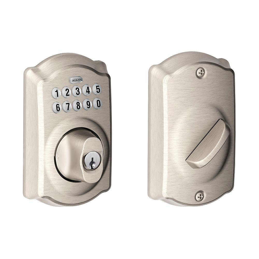 Camelot Satin Nickel Keyless Entry Keypad Deadbolt