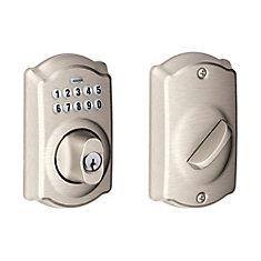 Camelot Satin Nickel Keyless Entry Keypad Deadbolt