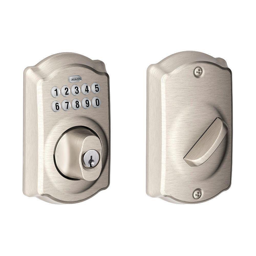 Schlage Camelot Satin Nickel Keyless Entry Keypad Deadbolt