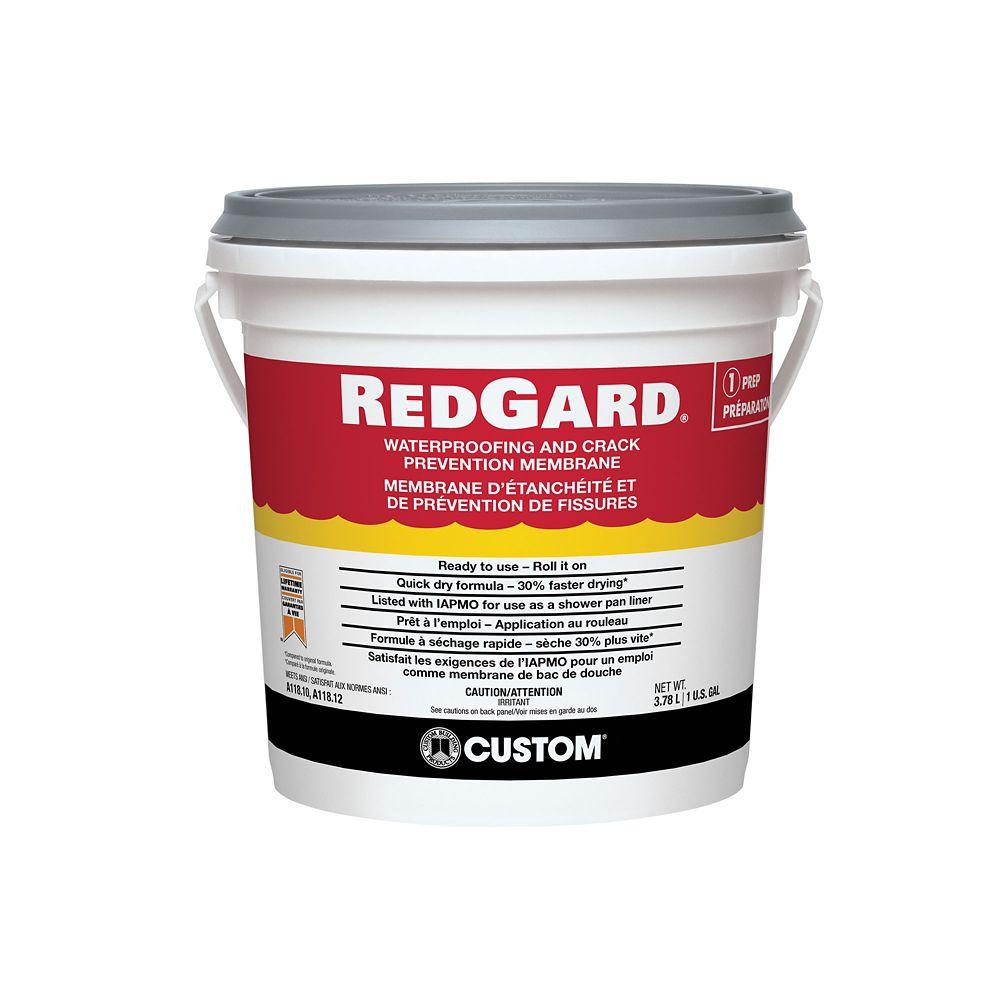 Membrane d'étanchéité et de prévention de fissures RedGard � 1 gallon
