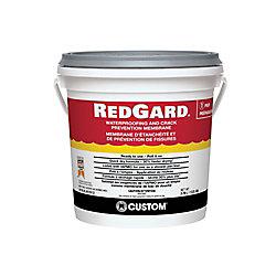 Custom Building Products Membrane d'étanchéité et de prévention de fissures RedGard  1 gallon